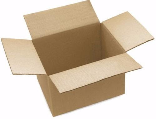 cien cajas de cartón corrugado kraft 20x 15x 14cms c02