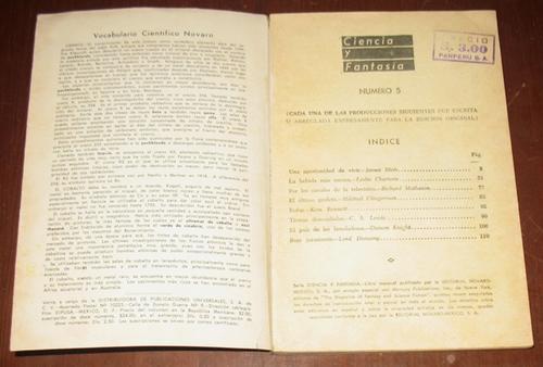 ciencia y fantasia n° 5 revista ficción 1957 - 8 relatos