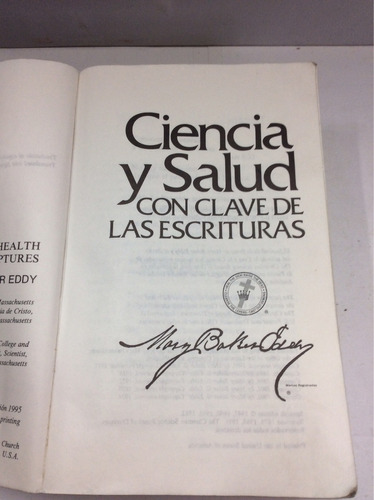 ciencia y salud, con clave...mary baker eddy (inglés-español