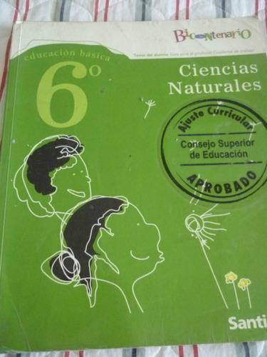 ciencias naturales 6° bicentenario santillana