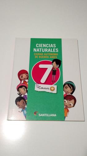ciencias naturales 7 caba conocer más santillana libro nuevo