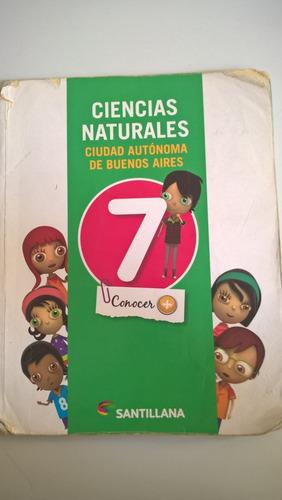 ciencias naturales 7 conocer + editorial: santillana - caba