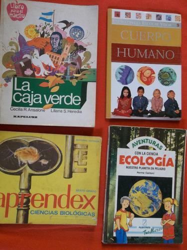 ciencias naturales para primaria lote con 10 libros oferta