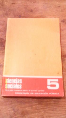 ciencias sociales quinto grado , año 1975