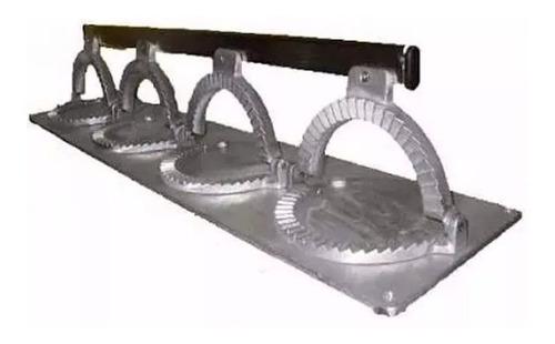 cierra empanadas gastronomico aluminio 4 unidades 14cm