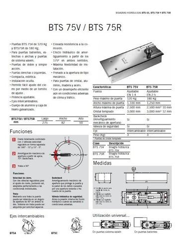 cierrapuerta de piso dorma bts75r alta gama tapa acero refor