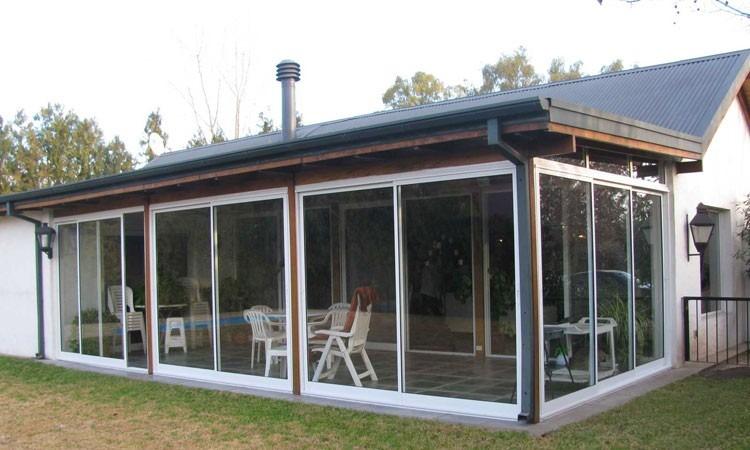 Cierre de balcon terraza termopanel ventanas de for Cierres de aluminio para terrazas