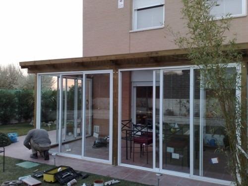cierre de balcon, terraza, termopanel, ventanas de aluminio