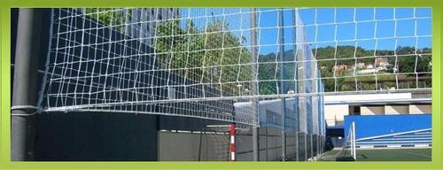 cierre de cancha de futbal, redes de arco