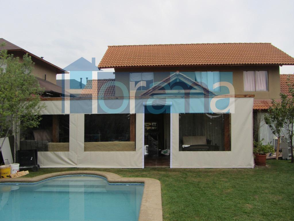 Cierres cortinas panoramicas para terraza quinchos for Materiales para terrazas