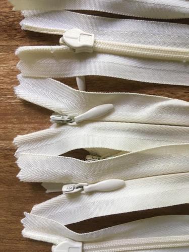 cierres invisibles de poliester de 14 cm - saldo 13 unis