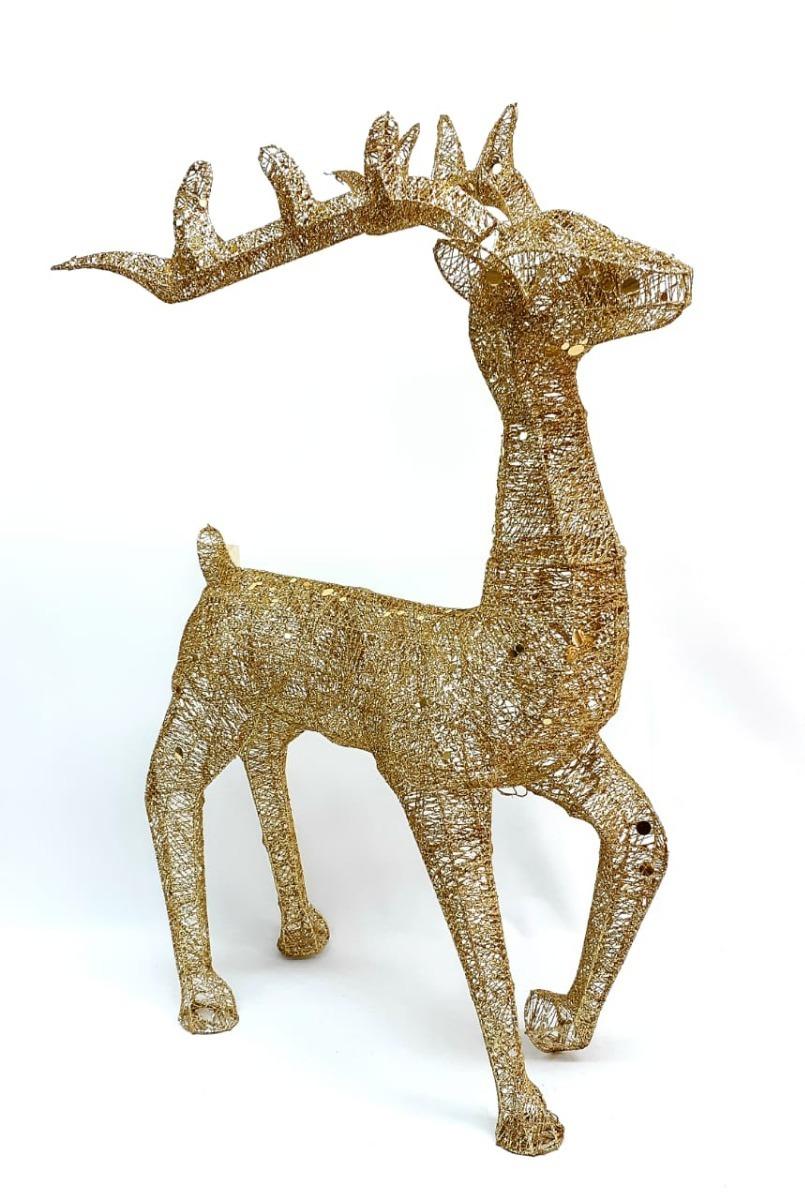 Ciervo Alambre Oro 120 Mt 30904 Sheshu Navidad 499900 En - Ciervo-navidad