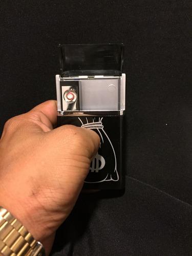 cigarrera con encendedor micro usb