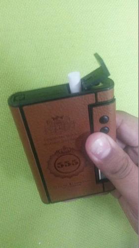 cigarrera personalizable ecocuero con encendedor