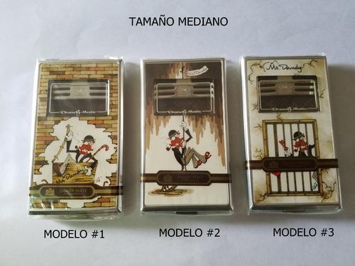 cigarreras antiguas metálica de bolsillo dandy-mate japonesa