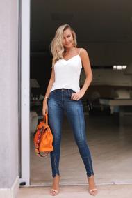 05782f56a Calça Jeans Monnari - Calças Feminino no Mercado Livre Brasil