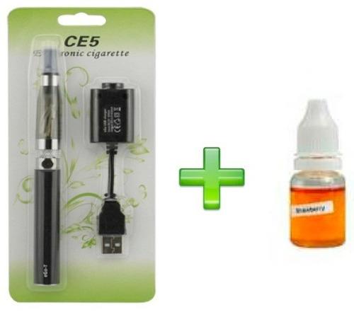 cigarrillo electronico con esencia y carador ego ec5