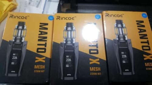 cigarrillo electrónico kit original rincoe manto x malla 228
