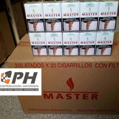 cigarrillo master rubio (5 cartones x10 atados) $35.88 c/u