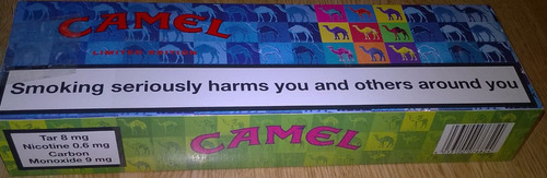 cigarrillos camel,edición limitada.10cajas,nuevos.importados