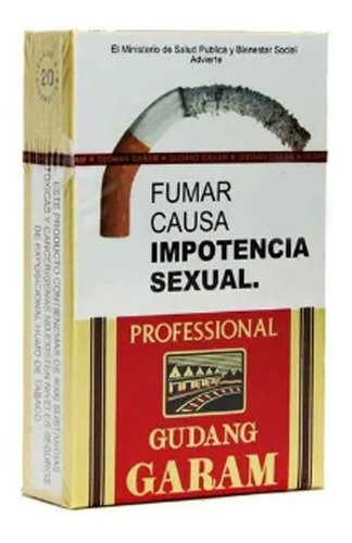 cigarrillos gudang garam profesional box x20 cigs