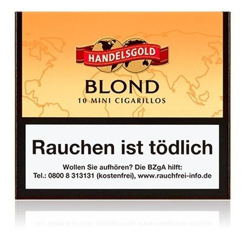 cigarritos puritos blonde cigarros vainilla handelsgold x60
