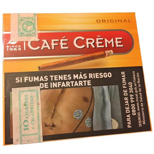 cigarro pack x50 puritos cigarros original cafe creme habano