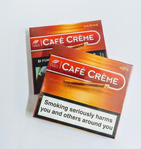 cigarros café creme arôme pack x10 cajas (100u) envío gratis