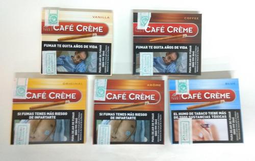 cigarros cafe creme lata x 10 unidades en sus 5 variedades