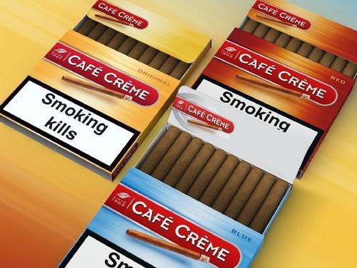 cigarros cafe creme varios sabores caja x 10 puritos