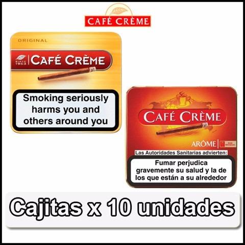 cigarros cafe creme x 10 varios sabores microcentro