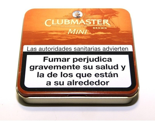 cigarros chocolate clubmaster mini brown pack x5 cigarrillos