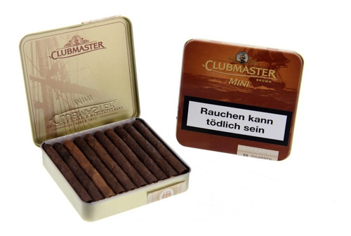 cigarros clubmaster mini brown x20 cigarrillos chocolate
