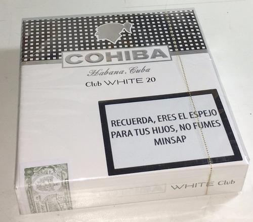 cigarros cubanos cohiba club white 20 - caja x 20 sellada
