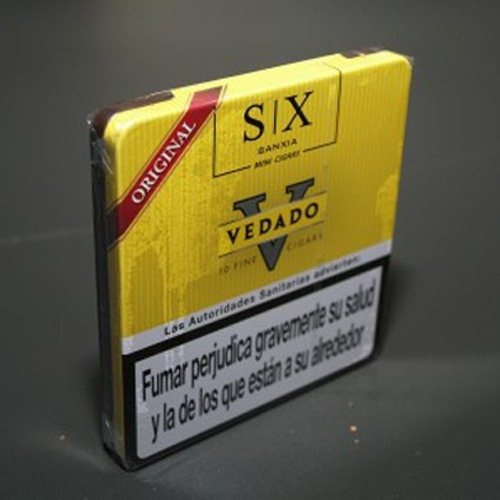 cigarros vedado mini original lata x10 cigarritos puritos