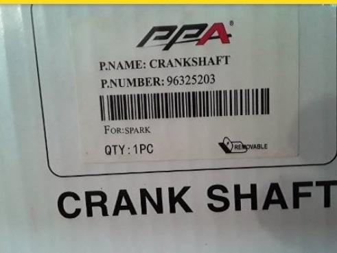 cigueñal de motor gm spark standard