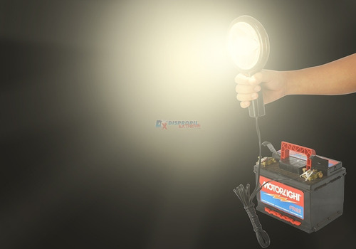 cilibrim refletor lanterna longo alcance 12v conector garra