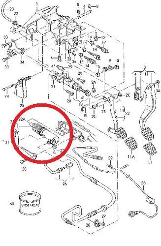 cilindro auxiliar embreagem porsche cayman 3.2 v6 06-13