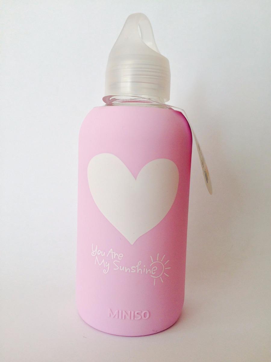 Cilindro Botella De Cristal De La Marca Japonesa Miniso