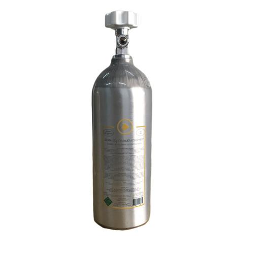 cilindro co2 alumínio soma 2l para reator de cálcio/plantado