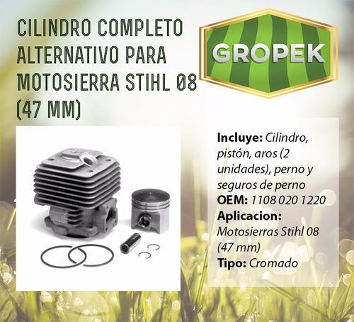 cilindro completo alternativo motosierras stihl 08 (47mm)