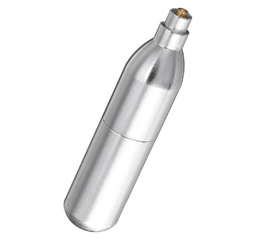 cilindro de 12g co2 aço inoxidável dos eua  recarregável