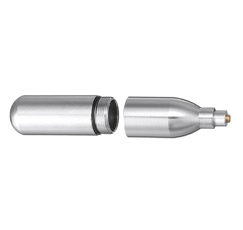 cilindro de 12g co2 recarregável e bico adaptador p/ recarga