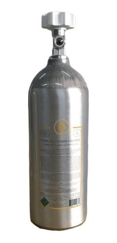 cilindro de alumínio co2 soma 2l aquário marinho ou plantado