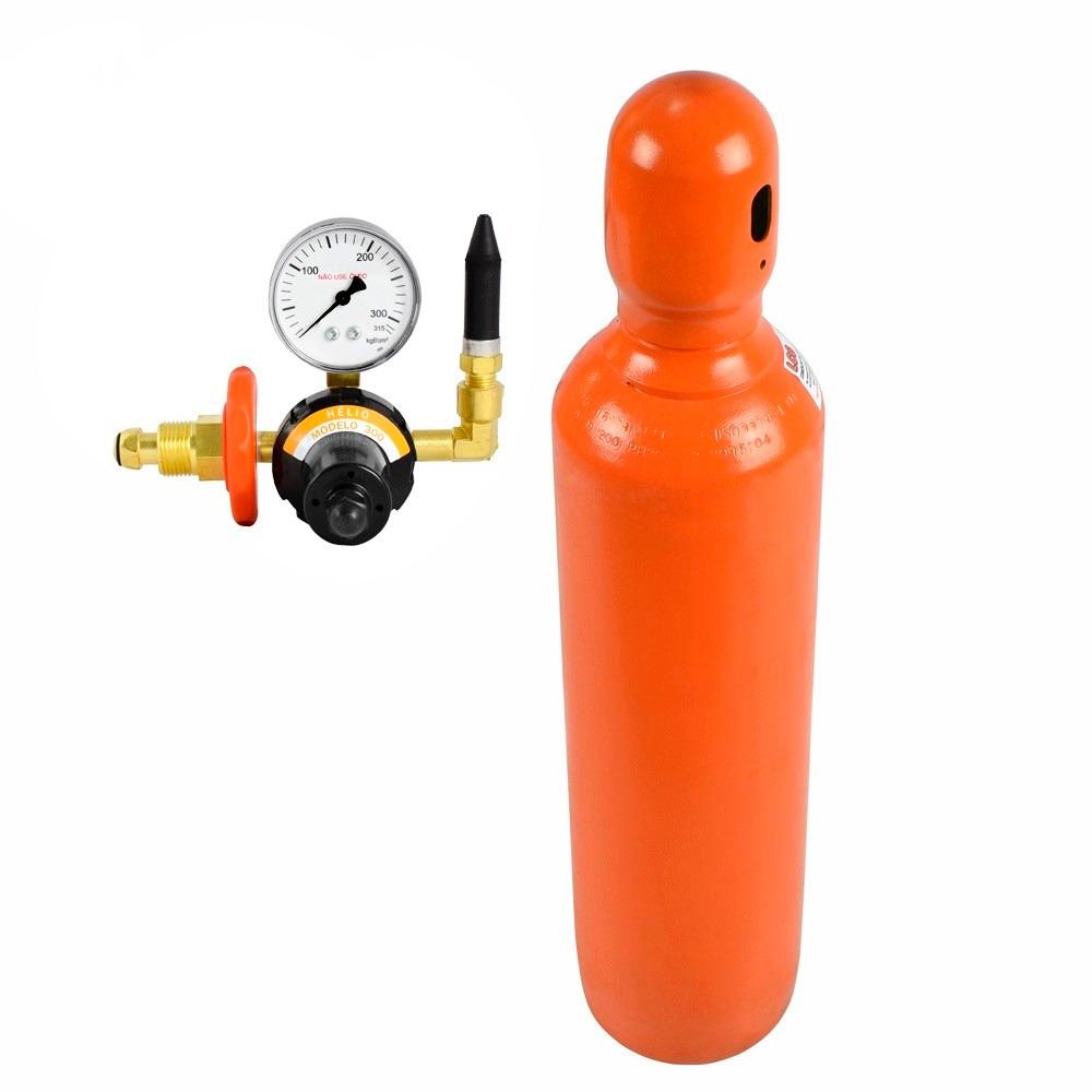 Cilindro de g s h lio 10 litros com v lvula r for Valor cilindro de gas