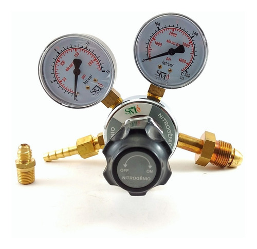 cilindro de nitrogênio 1,0m3 7lts+regulador de pressão