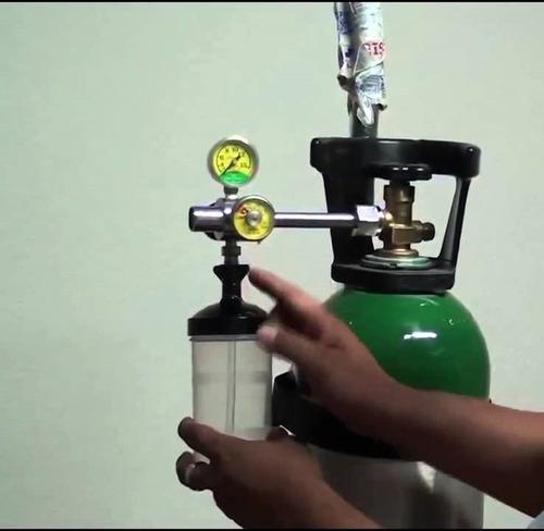 cilindro de oxigeno con coche nuevo de fabrica