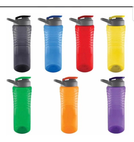 cilindro de plástico pet, tapa ad y asa sujetadora 750 ml