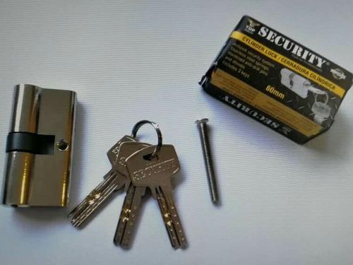 cilindro de seguridad security, 6cm, 3 llaves