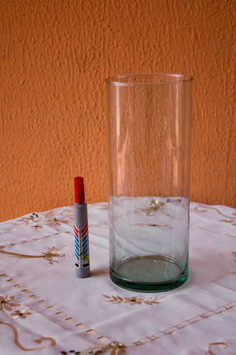cilindro de vidrio florero  para decoracion, boda 25cmx10cm